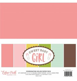 Echo Park Echo Park Sweet Baby Girl Solids 12x12 Inch