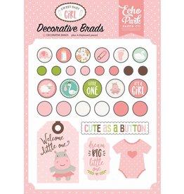 Echo Park Sweet Baby Girl Decorative Brads