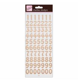 Papermania Zahlen Sticker Rosegold