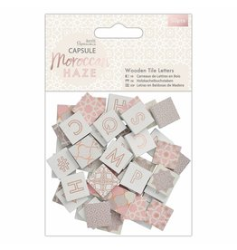 Papermania 50x Wooden Tile Letters Moroccan Haze