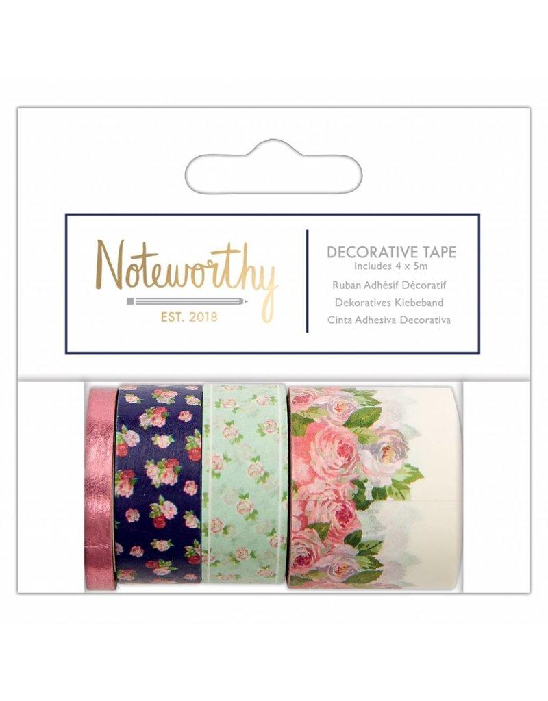 Papermania Washi Tape Set Noteworthy Flowers