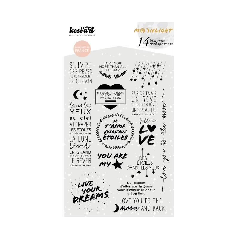 kesi`art Clear Stamps Set Moonlight