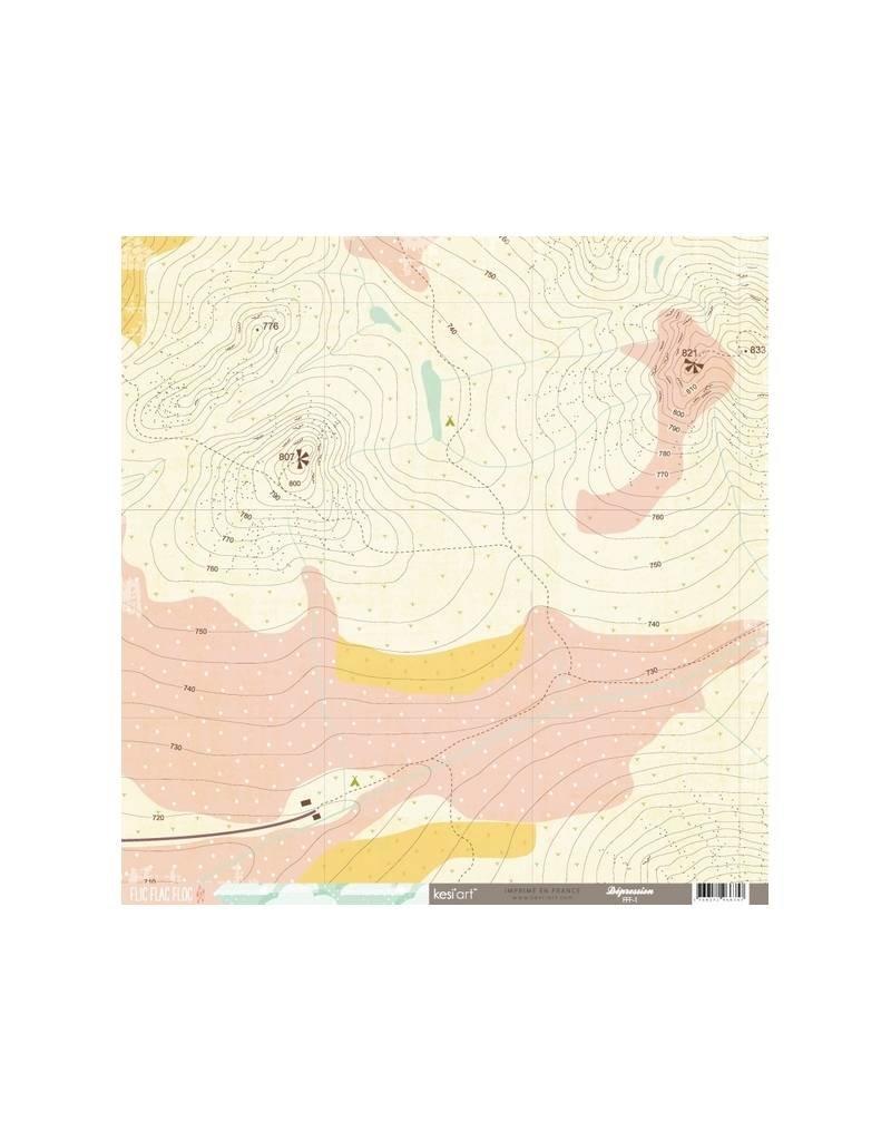 "kesi`art Cardstock Bogen Flic Flac Floc 12x12"""