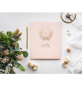 Gästebuch Puderrosa - Roségold Wreath