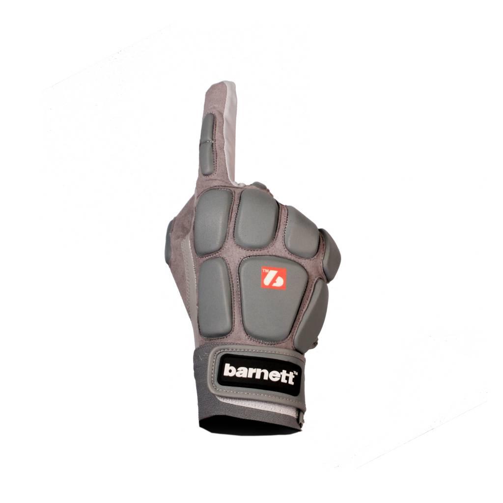 barnett FKG-03 gants de football américain de linebacker pro, LB,RB,TE Gris