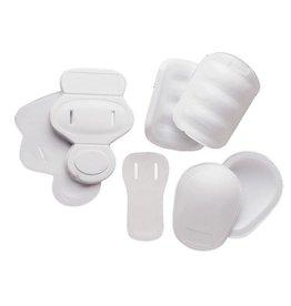 FKJ-01 kit 7 pièces ensemble de protections, TU, blanc