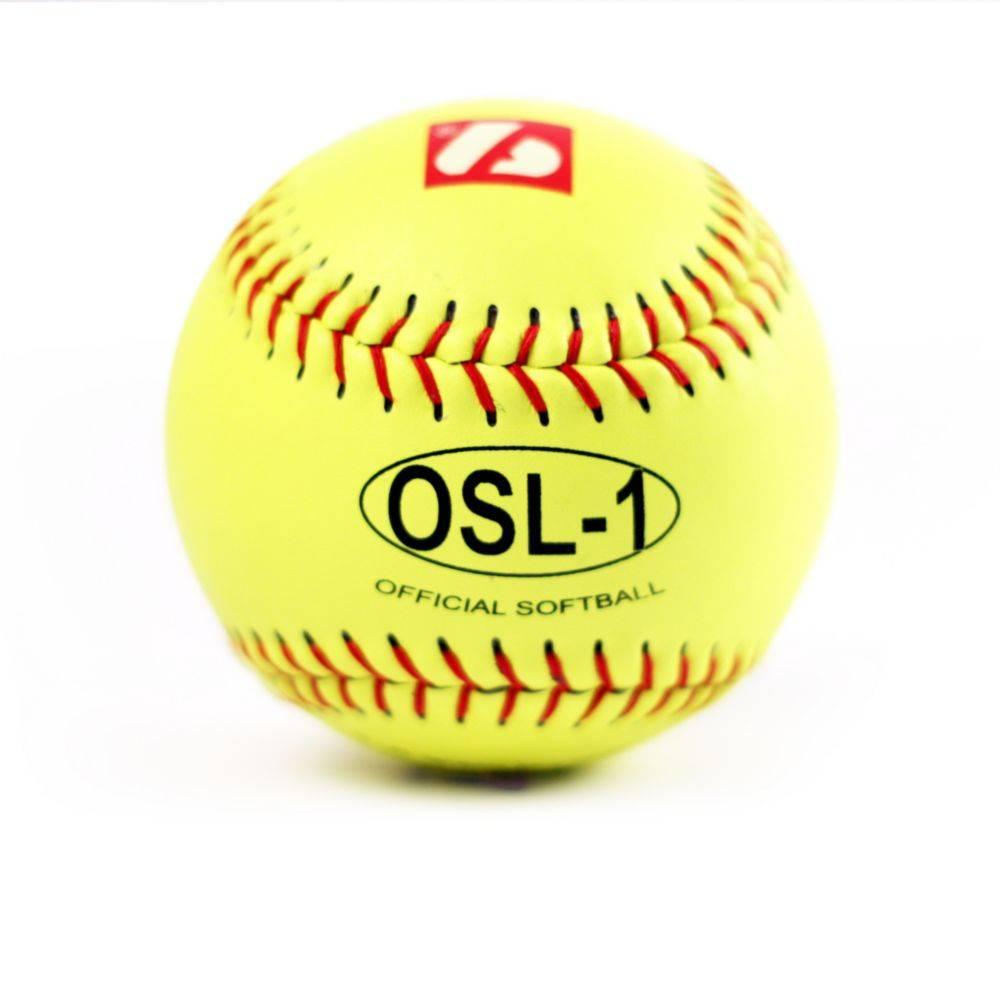OSL-1 balle de compétition softball, 12'', jaune 1 douzaine