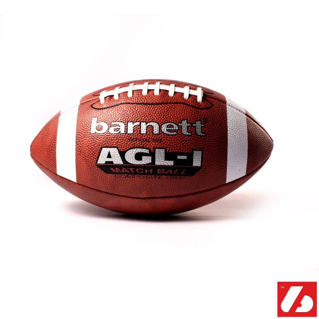 AGL-1 Ballon de football américain match, polyuréthane, senior, marron