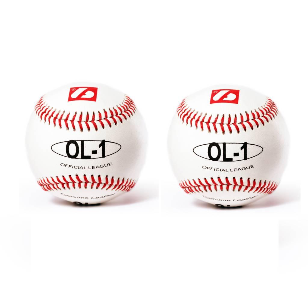 """OL-1 balle de baseball match """"Élite""""', taille 9'', blanc, 2 pièces"""