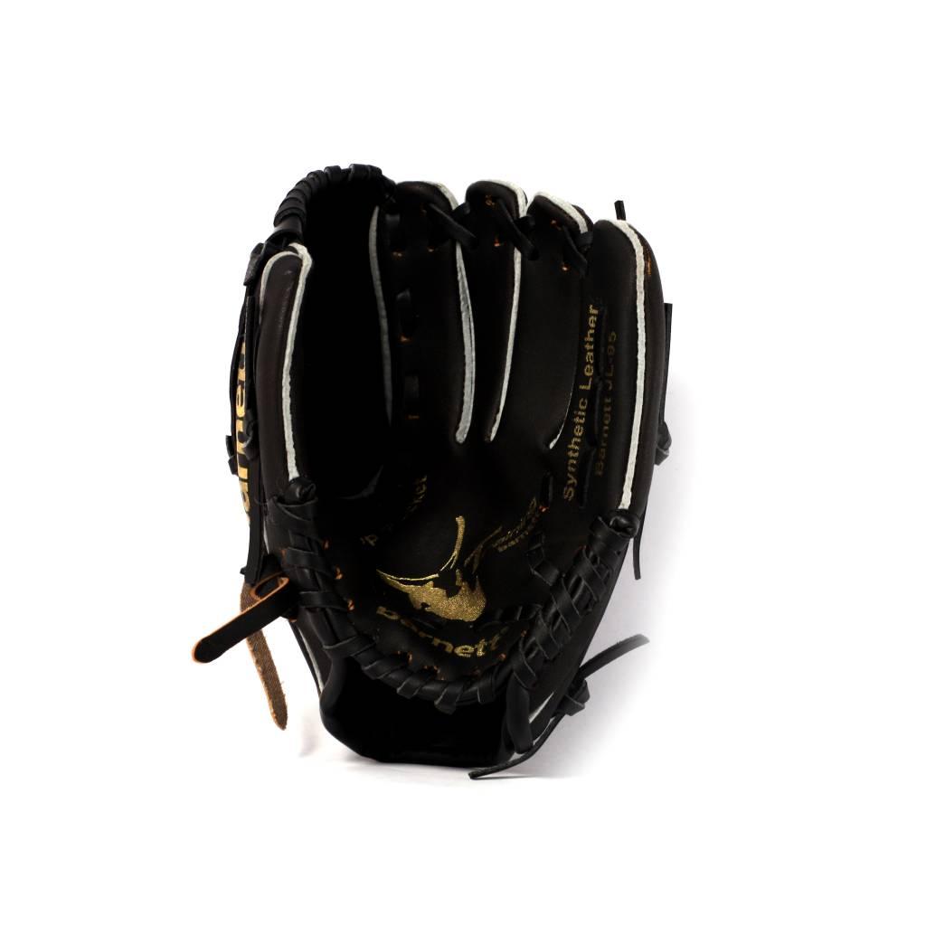 """JL-95 gant de baseball initiation PU infield 9,5"""", noir"""