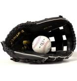 JL-125 gant de baseball initiation PU outfield 12', noir