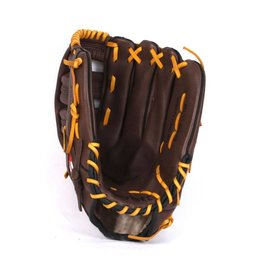 "GL-127 gant de baseball cuir 12,7"" de compétition outfield 12,5"", marron"