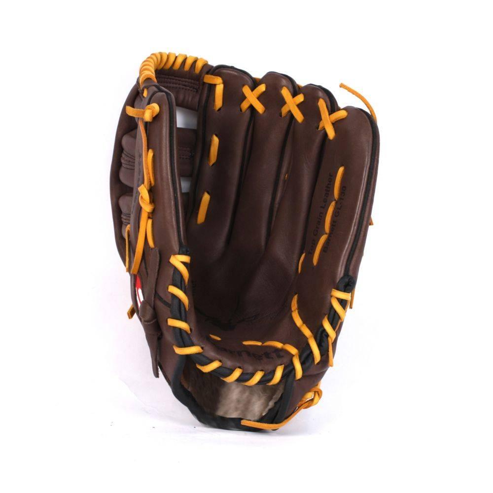 "GL-127 gant de baseball cuir 12,5"" de compétition outfield 12,5"", marron"