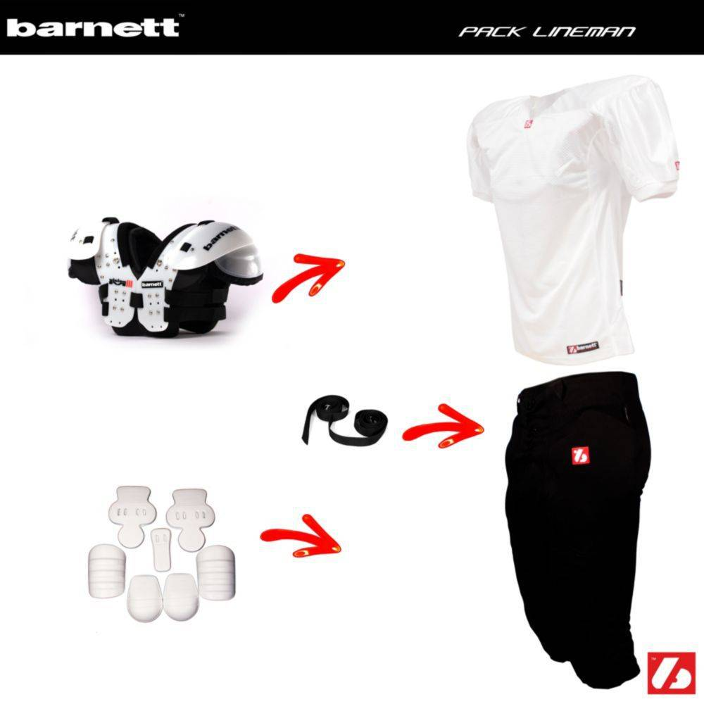 barnett Pack Lineman Football Américain (Vision IV + FJ-2 + FP-2 + FKA-03 + 2pcs CMS-01)