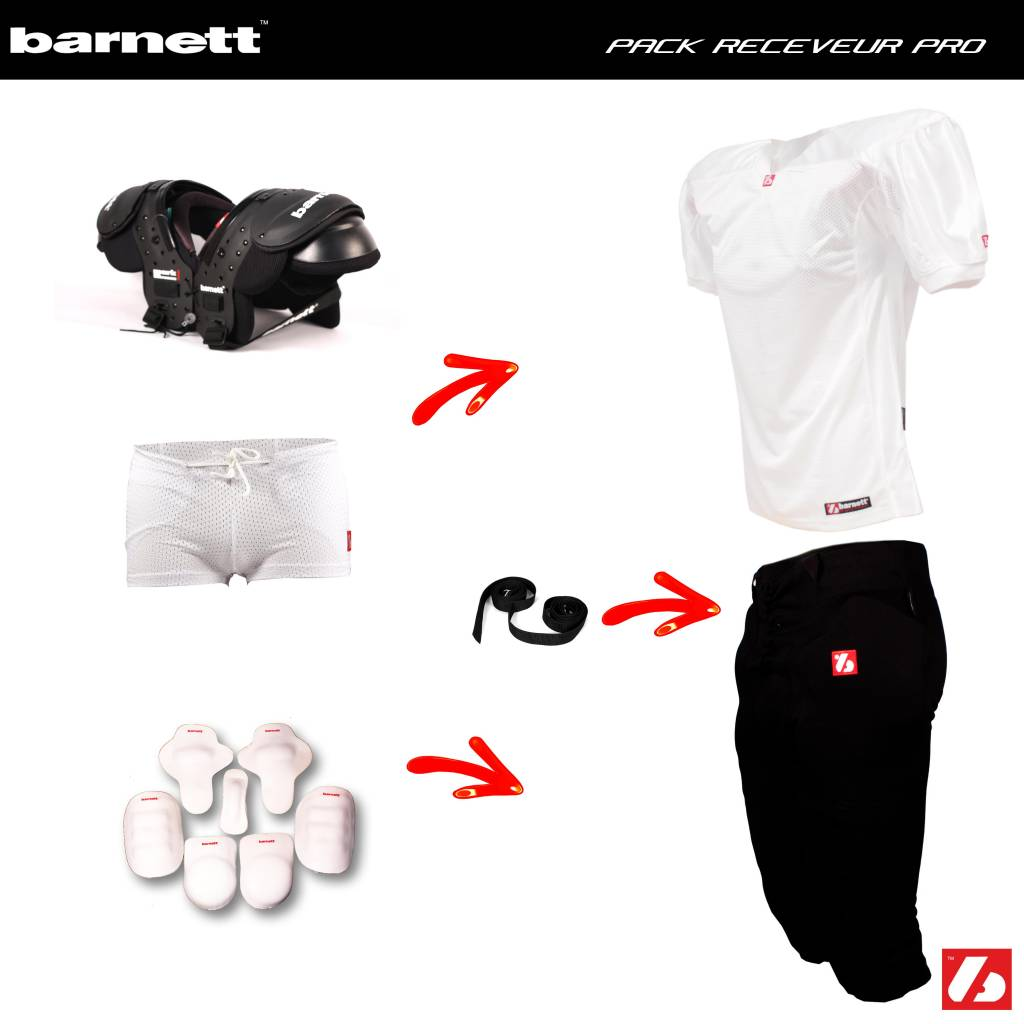 barnett Pack Football Américain Receveur PRO (MARK I ou II+ FJ-2 + FP-2 + FHP-01 + FKP-01+ FTP-01+FS-01 + CMS-01)