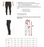 barnett FS-07 Pantalon de compression, 5 pièces intégrées, football américain