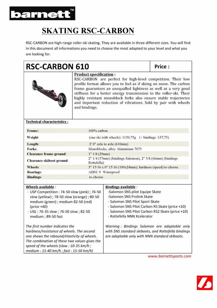 RSC-CARBON Ski roues compétition