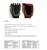 "GL-120 gant de baseball cuir de compétition outfield 12"", noir"
