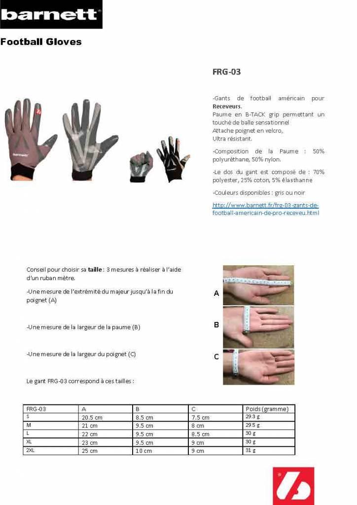 FRG-03 gants de football américain de pro receveur, RE,DB,RB Gris
