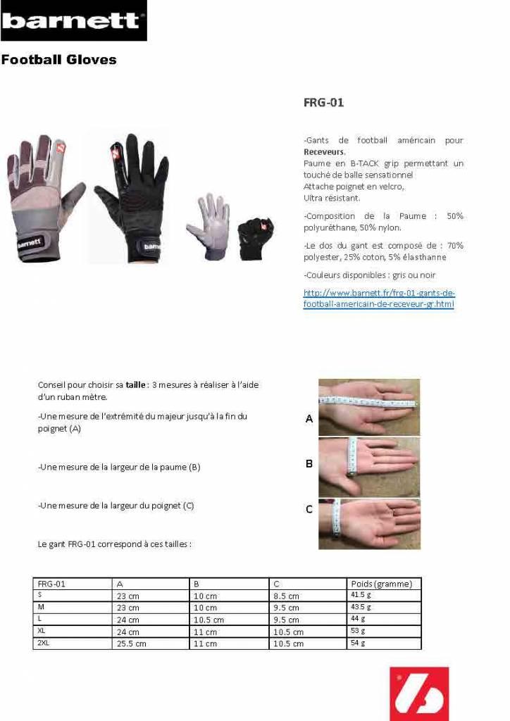 FRG-01 gants de football américain de receveur, Gris, RE,DB,RB