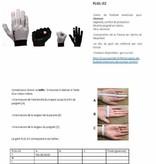 barnett FLGL-02 gants de football américain de coureur , RE,DB,RB, Noir