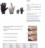 FLG-01 gants de football américain de linemen, OL,DL, Noir