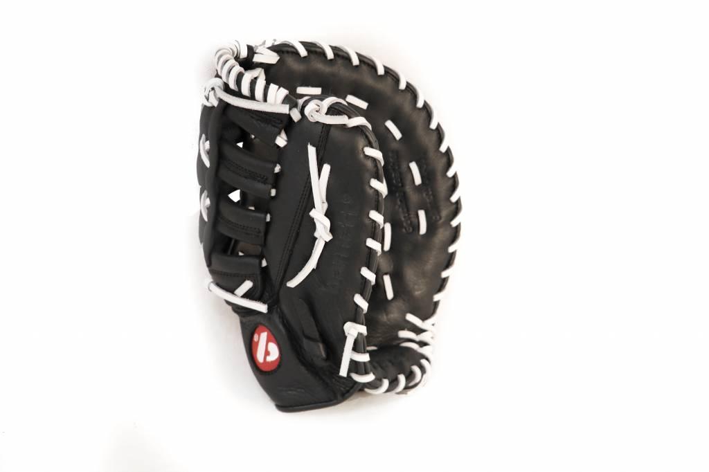 GL-301 gant de baseball cuir de 1er base pour adulte, Noir