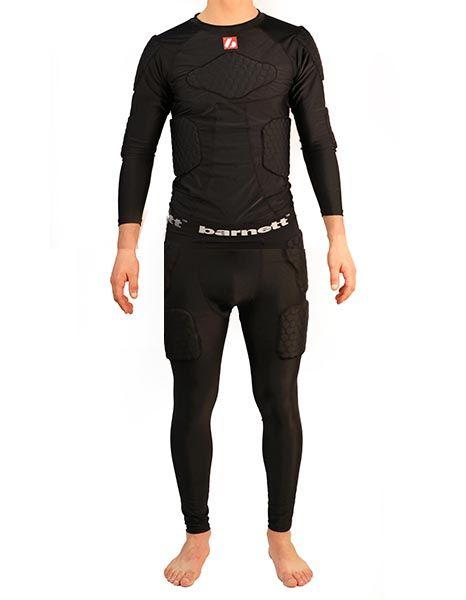 - FKS-L Kit Maillot manches longues de compression + Pantalon 5 pièces intégrées, football américain