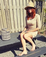 Taupe Suede Dress