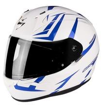 Scorpion EXO-390 HAWK White Blue