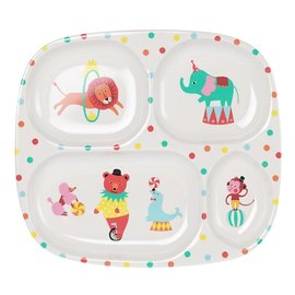 Ginger A day at the circus melamine 4 compartimenten bord
