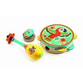 Djeco Djeco set van 3 houten muziekinstrumenten