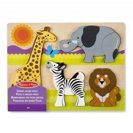 Melissa & Doug Melissa and Doug houten inleg puzzel Safari
