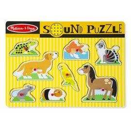 Melissa & Doug Melissa and Doug houten huisdieren puzzel met geluid