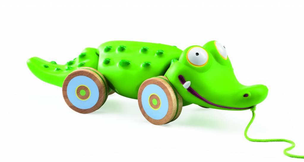 houten trek krokodil