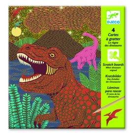 Djeco Djeco kraskaarten 'Dinosauriërs'