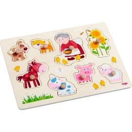Haba Haba houten inlegpuzzel 'Oma Linda's dieren'