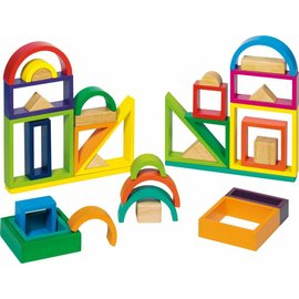 Goki Goki houten blokken - 38 delig
