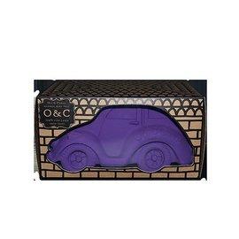 Oli & Carol Bijt en bad speeltje auto XL paars- van 100% natuurrruber