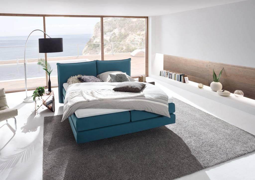 h lsta boxspring bett mit kissenkopfteil. Black Bedroom Furniture Sets. Home Design Ideas