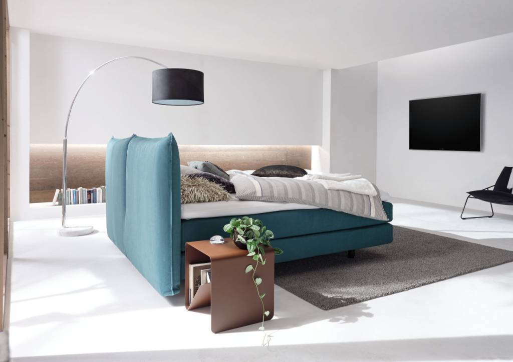 h lsta boxspring bett mit kissenkopfteil. Black Bedroom Furniture Sets. Home Design Ideas