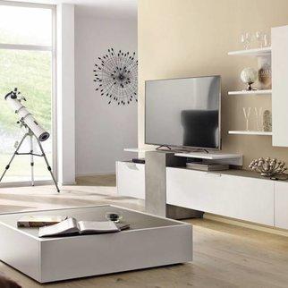 h lsta fena wohnwand in balkeneiche und betonoptik. Black Bedroom Furniture Sets. Home Design Ideas