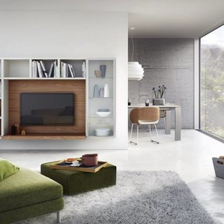 h lsta gentis wohnkombination mit sideboard h ngevitrine. Black Bedroom Furniture Sets. Home Design Ideas