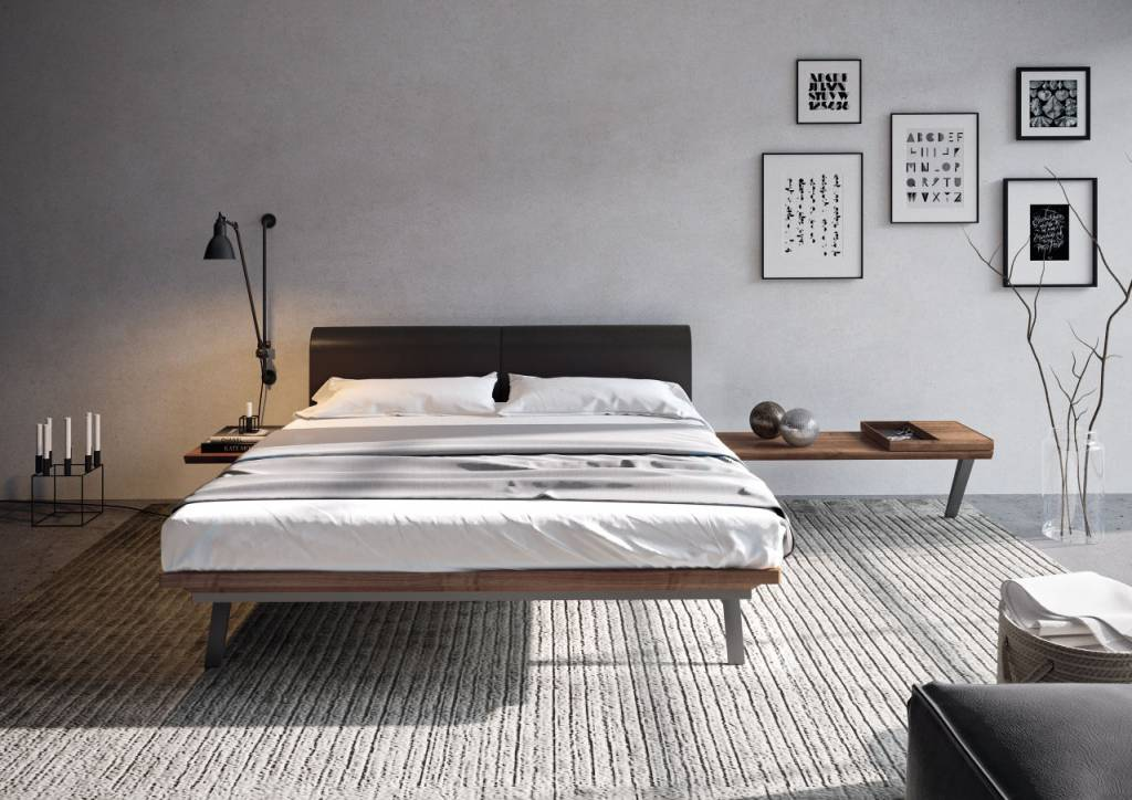 h lsta madera schlafzimmer 7 t rig in lack anthrazit und nussbaum. Black Bedroom Furniture Sets. Home Design Ideas