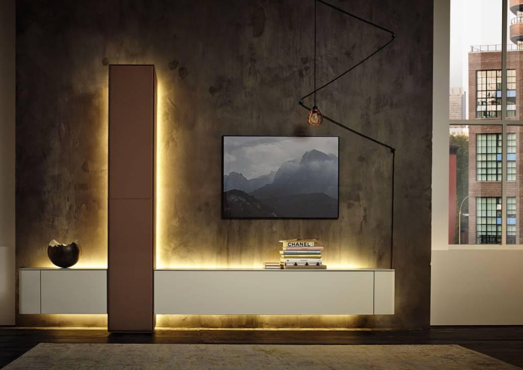 h lsta gentis wohnzimmerkombination mit 2 klappen und 1. Black Bedroom Furniture Sets. Home Design Ideas