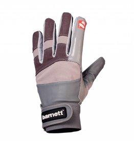 barnett FRG-01 Rukavice na americký fotbal, receiver, s gripem, šedá
