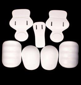 barnett FKJ-01 Sada chráničů na americký fotbal junior, 7 kusů, jednotná velikost, bílá