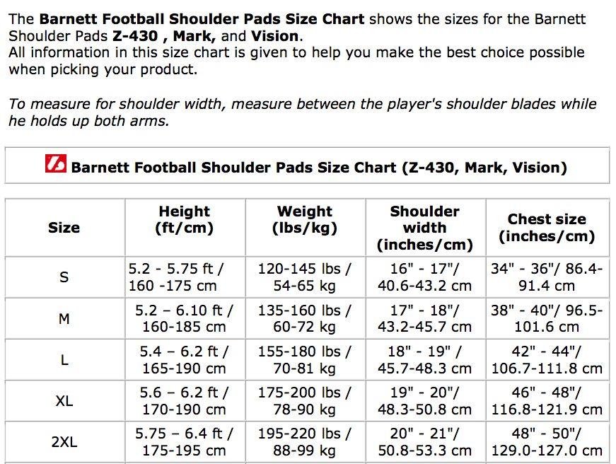barnett VISION III Chránič ramen na americký fotbal, HB-FB-LB-TE