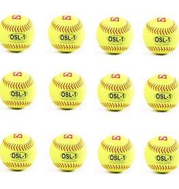 """barnett OSL-1 Soutěžní softbalový míč, velikost 12"""", žlutá, 12 ks"""