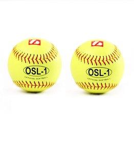 """barnett OSL-1 Soutěžní softbalový míč, velikost 12"""", žlutá, 2 ks"""